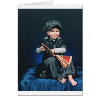 vintage boy card
