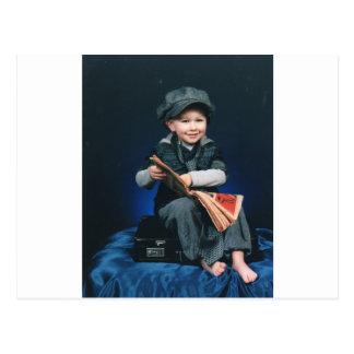 vintage boy postcard