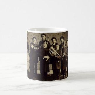 Vintage Boys Brass Band Warsaw Indiana Basic White Mug