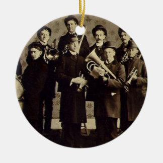 Vintage Boys Brass Band Warsaw Indiana Christmas Ornament