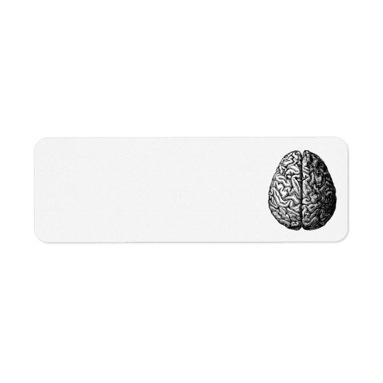VINTAGE BRAIN DRAWING ADDRESS LABELS