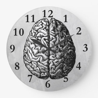 VINTAGE BRAIN DRAWING CLOCK