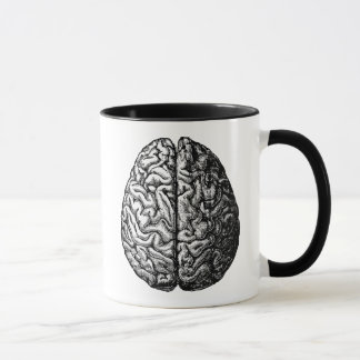 VINTAGE BRAIN DRAWING MUG