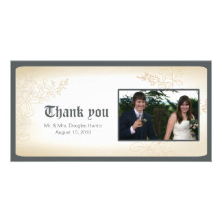 Vintage Branch - Wedding thank you cards. Picture Card