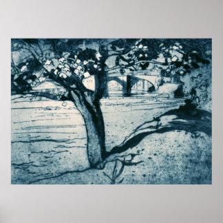 Vintage Brangwyn Maple Tree Barnard Castle Posters