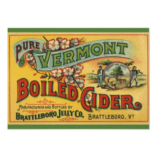 Vintage Brattleboro Jelly Boiled Cider Vermont Card