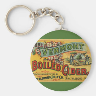Vintage Brattleboro Jelly Boiled Cider Vermont Key Ring