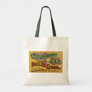 Vintage Brattleboro Jelly Boiled Cider Vermont Tote Bag