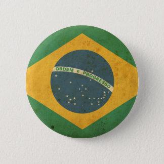 Vintage Brazil Flag 6 Cm Round Badge