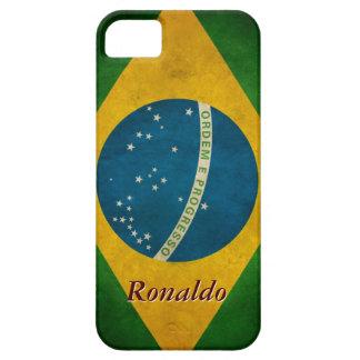 Vintage Brazil Flag Bandeira do Brasil Pattern Case For The iPhone 5