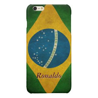 Vintage Brazil Flag Bandeira do Brasil Pattern iPhone 6 Plus Case
