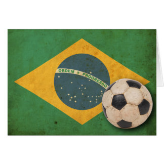 Vintage Brazil Flag Card