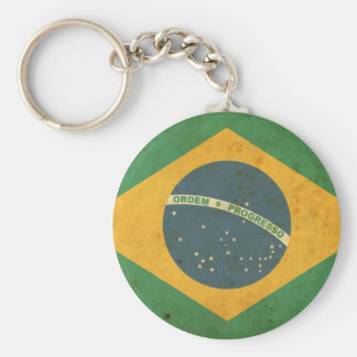 Vintage Brazil Flag Keychains