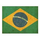 Vintage Brazil Flag Postcard