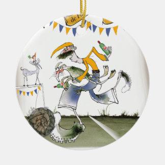 vintage brazil left wing footballer christmas ornament