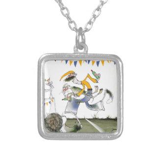 vintage brazil left wing footballer silver plated necklace