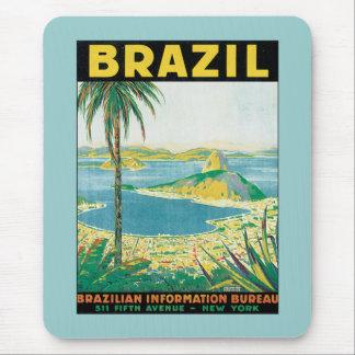 Vintage Brazil Mouse Pad