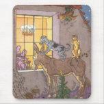 Vintage Bremen Town Musicians Fairy Tale, Hauman Mouse Pad