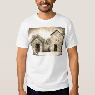 Vintage Brick Homestead Buildings T Shirts
