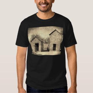 Vintage Brick Homestead Buildings Tee Shirts