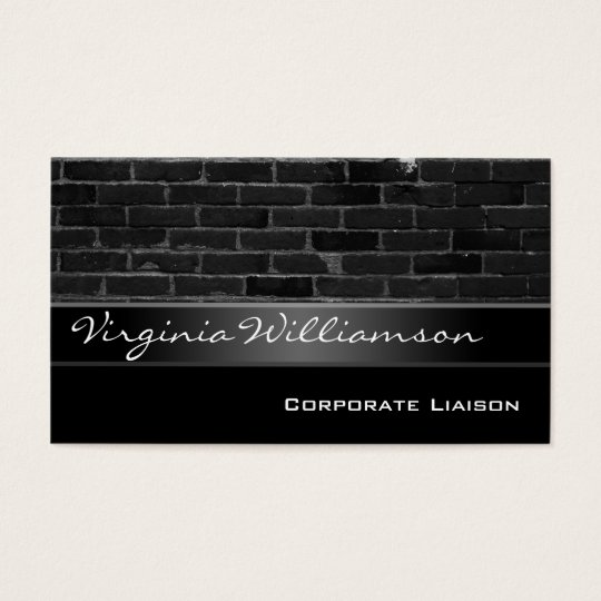 Vintage Brick Personal Black Business Cards