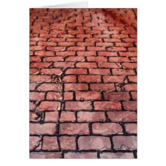 Vintage Brick Street Card