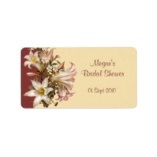 Vintage Bridal Shower Avery Label Address Label