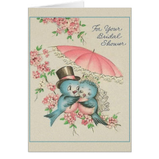 Vintage Bridal Shower Greeting Card