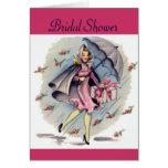 Vintage Bridal Shower Guest Greeting Card