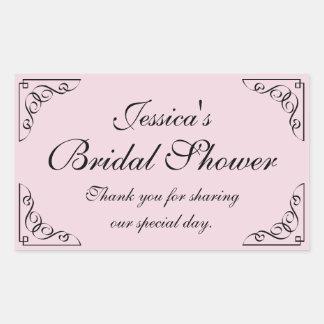 Vintage bridal shower party favor stickers