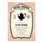 Vintage Bridal Shower Tea Party Invitations