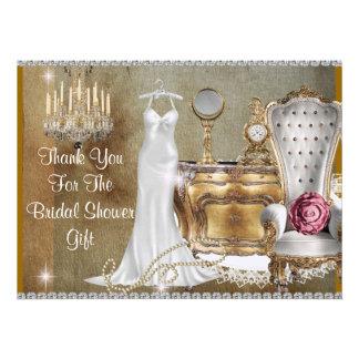 VINTAGE BRIDAL SHOWER THANK YOU CUSTOM ANNOUNCEMENTS