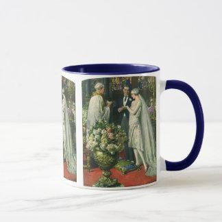 Vintage Bride and Groom, Church Wedding Ceremony Mug