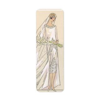 Vintage bride return address label