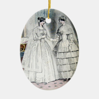 Vintage Bride Wedding Dress Ceramic Oval Decoration