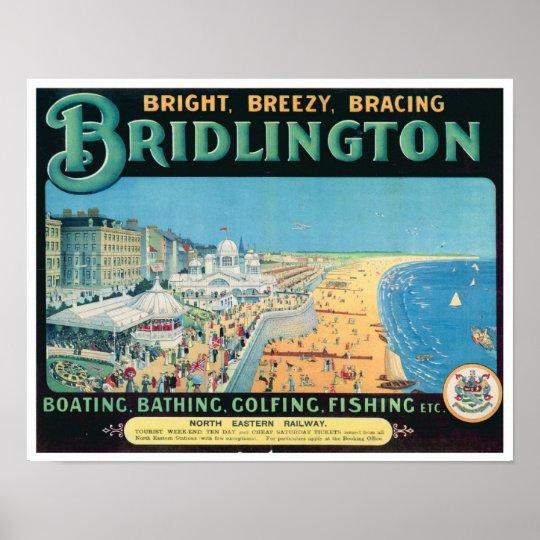 Vintage Bridlington Resort Poster Print