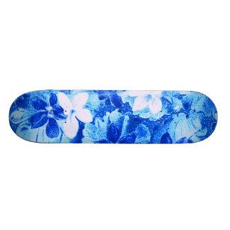 Vintage Bright Blue Violets Skateboard