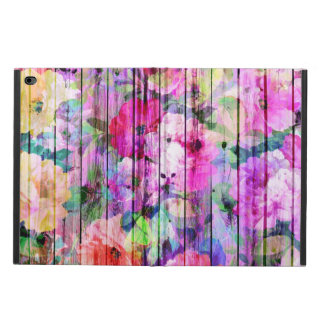 Vintage Bright Chic Floral Pattern Purple Wood Powis iPad Air 2 Case