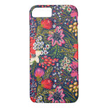 Vintage Bright Floral Pattern Fabric iPhone 7 Case