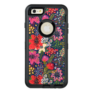 Vintage Bright Floral Pattern Fabric OtterBox iPhone 6/6s Plus Case
