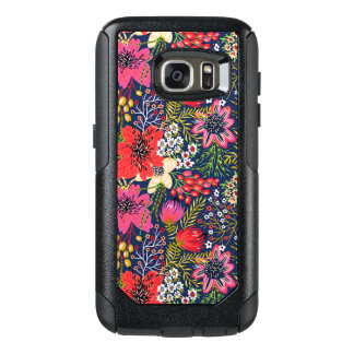 Vintage Bright Floral Pattern Fabric OtterBox Samsung Galaxy S7 Case