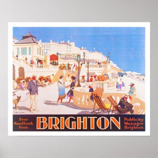Vintage Brighton Travel poster