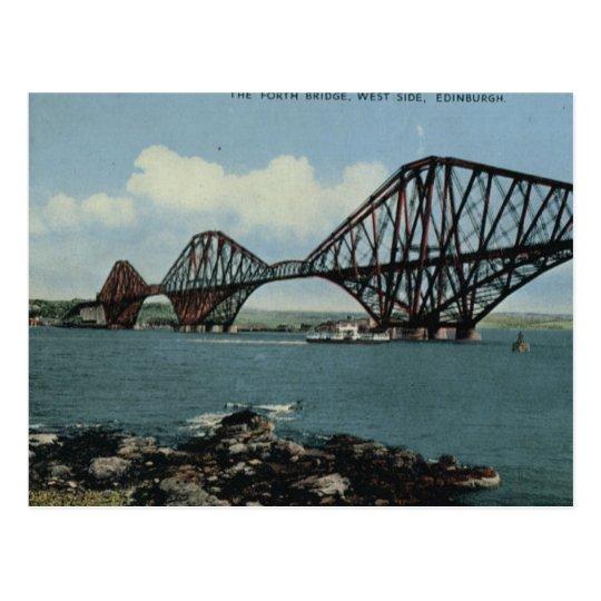 Vintage Britain, Edinburgh, Forth Bridge Postcard