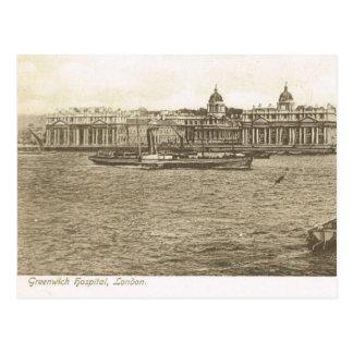 Vintage Britain, London, Greenwich Hospital Postcard