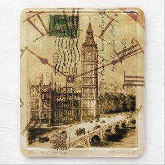 vintage british architecture london big ben mousepads