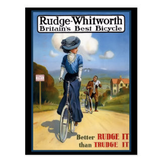 Vintage British Bicycle Ad Postcard