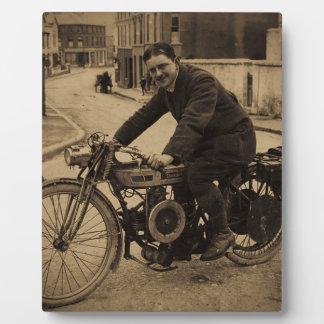 Vintage British Motorcycle  Early 1900s Photo Plaques