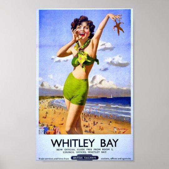 Vintage British Poster Beach Holiday British Rail