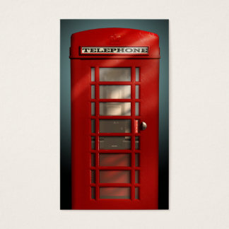 Vintage British Red Phone Box Social Profile