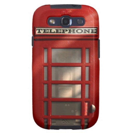 Vintage British Red Phonebox Samsung Galaxy Case Samsung Galaxy SIII Case